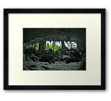 TRADERS CAVE Framed Print