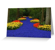 Flower path Greeting Card