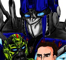 Prime, Ratchet And Sam by Caroline Smalley