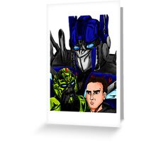 Prime, Ratchet And Sam Greeting Card