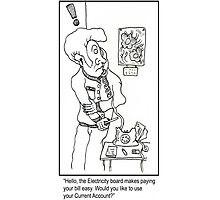 Funny Electricity board Cartoon. Photographic Print