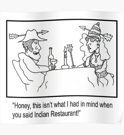 Funny restaurant Cartoon. Poster