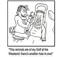 Funny dentist cartoon. Photographic Print