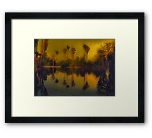 Seven Ancient Palms Framed Print