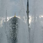 fountain blue mosque by chamarbe