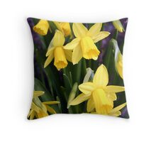 Miniature Daffodils Throw Pillow
