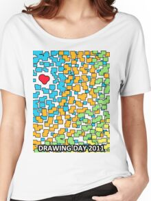 Colored Love - Drawing Day 2011 Women's Relaxed Fit T-Shirt