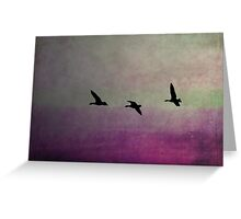 Goose Flight  - JUSTART ©  Greeting Card