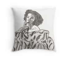 In the Drapes Throw Pillow