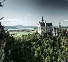 Cinderella Castle (Neuschwanstein) - Barvaria, Germany by Adam Olson