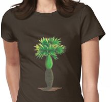Curvy Palm Womens Fitted T-Shirt