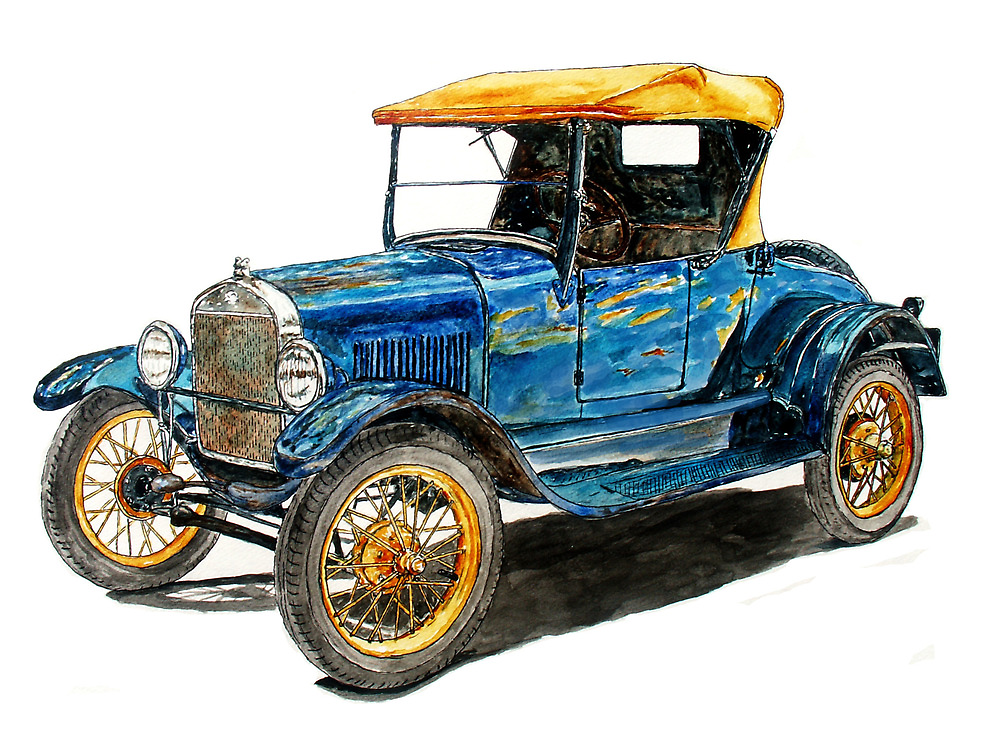 1927 Ford Model T Roadster by Ob-Art