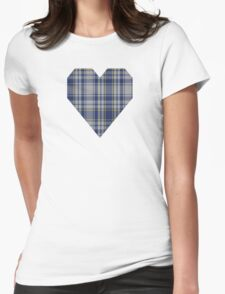 00675 The Spirit of Yorkshire District Tartan  Womens Fitted T-Shirt