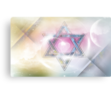 STAR OF DAVID-2- bless and protect Canvas Print