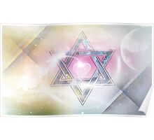 STAR OF DAVID-2- bless and protect Poster