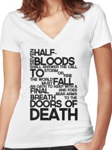 Heroes of Olympus Prophecy Women's Fitted V-Neck T-Shirt