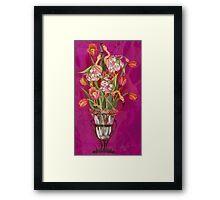 Tip Toeing thru the Tulips Framed Print