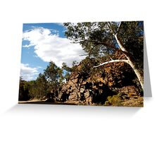 landscapes #210, white on red Greeting Card