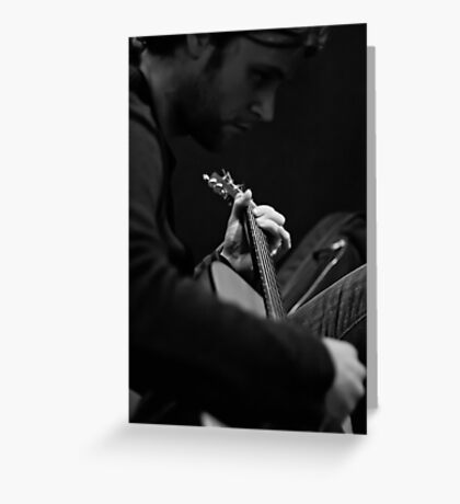 Solitude on guitar Greeting Card