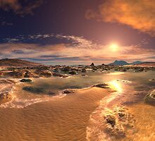 Golden Light on Sunset Bay by SpinningAngel
