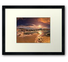 Golden Light on Sunset Bay Framed Print