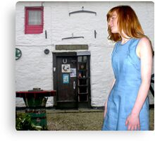 The Flax Mill...The Blue Linen Dress Canvas Print