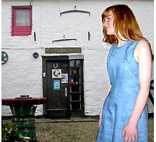 The Flax Mill...The Blue Linen Dress Photographic Print