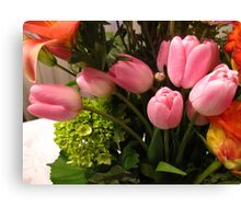 Swanning Tulips Canvas Print