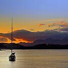 Drifting Sailboat by Aj Finan