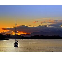 Drifting Sailboat Photographic Print