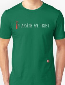In Arsène We Trust (Red & White) T-Shirt
