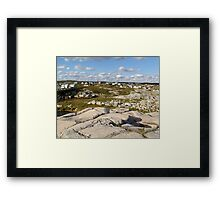 Peggy's Cove-A Different View Framed Print