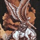 Angelic Saddle Bronc by JerryWayne Anderson