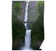 Multnomah Falls along the Columbia River Poster