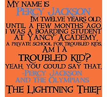 """Am I a troubled kid? Yeah. You could say that"" Quote Photographic Print"