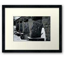 Old trestle Framed Print