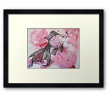 Swimming in a sea of color Framed Print