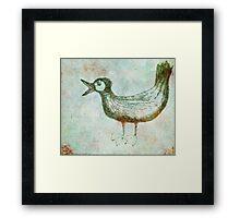 Scribbler-Bird Framed Print