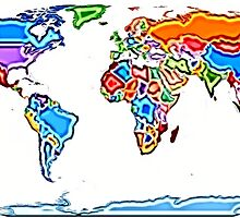 Painting Style Colored World Map by ramiro