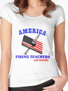America Women's Fitted Scoop T-Shirt