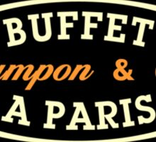 Oval Buffet Sticker