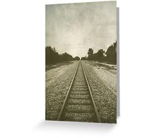 A thing is mighty big when time and distance cannot shrink it. Greeting Card