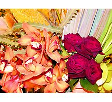 Orchids and Roses Photographic Print