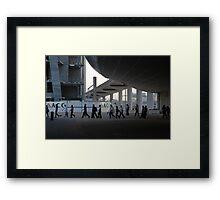 Cultural construction Framed Print