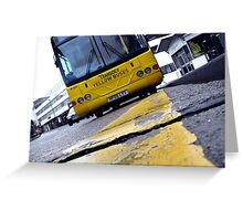 Yellow Bus Services  Greeting Card