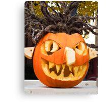 Scary Jack-O-Lantern Canvas Print