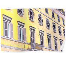 Roman Facade;  Italy Poster