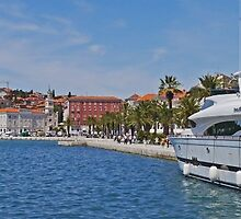 Waterfront at Split, Croatia (Panorama) by Margaret  Hyde