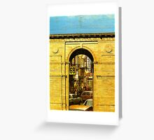 the world is this way' Greeting Card