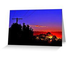 Sunrise At Allambie. Brisbane, Queensland, Australia. (2) Greeting Card